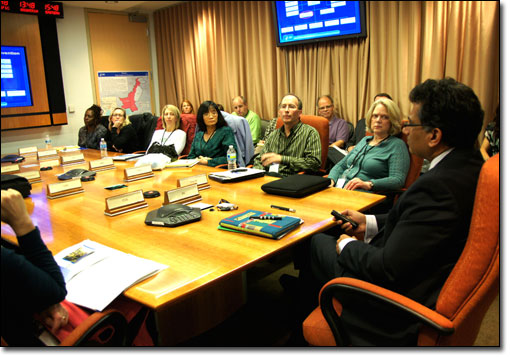 The 2011 AHCJ-CDC Health Journalism Fellows met with Ali S. Khan, M.D., M.P.H., assistant surgeon general and director of the CDC's Office of Public Health Preparedness and Response.