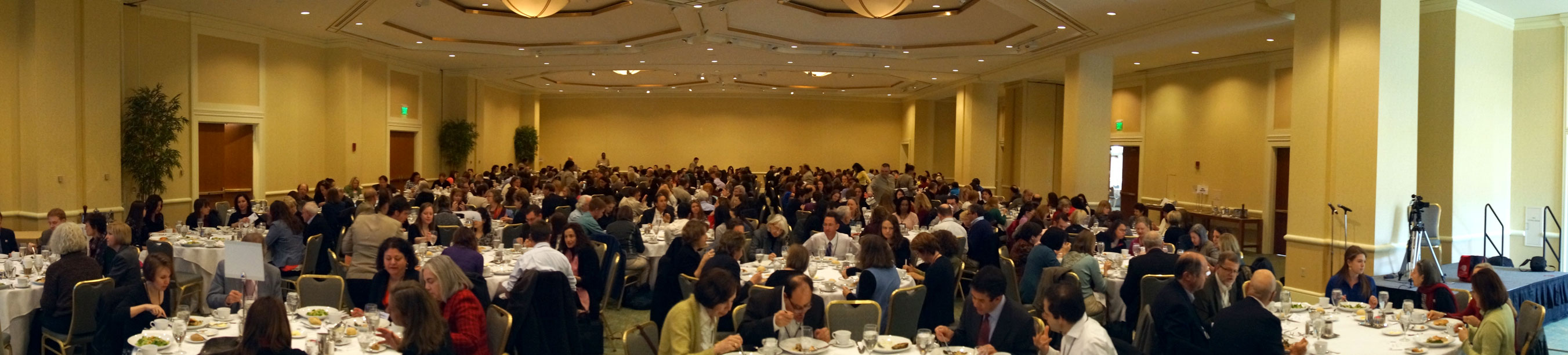 Saturday's luncheon featured presentation of the Awards for Excellence in Health Care Journalism. (Photo: Len Bruzzese)