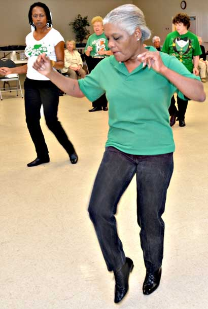 The Senior Stutters Line Dancers of Valdosta performed a show at Lake Park United Methodist Church on March 1, 2011.