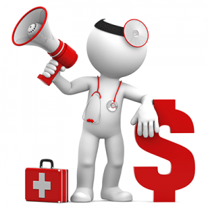 doctor-with-megaphone-and-dollar-sign