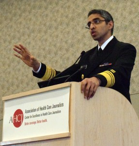 Photo/Deborah Crowe/AHCJVivek Murthy, M.D., spoke at Health Journalism 2016