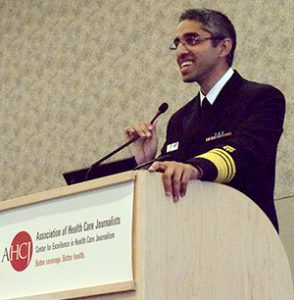 Photo: Deborah Crowe/AHCJVivek Murthy, M.D., spoke about work to end the opioid epidemic in the United States during his speech at Health Journalism 2016.