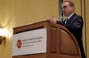 Photo: Len Bruzzese/AHCJDavid J. Shulkin spoke at Health Journalism 2016, pointing out some of the agencies successes.