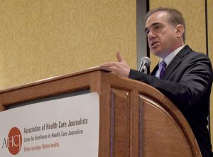 David Shulkin, undersecretary for Health at the Department of Veterans Affairs, spoke to Health Journalism 2016 attendees.