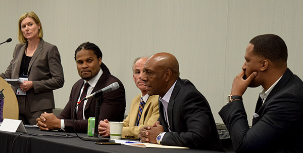 Photo: Pia Christensen/AHCJESPN senior producer Dwayne Bray reminded journalists that the NFL pressured a journal to retract Bennett Omalu's study on the late Pittsburgh Steeler player Mike Webster's CTE.