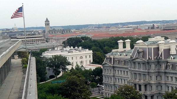Photo: Phil GalewitzThe view from the Pennsylvania Avenue rooftop.