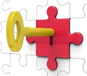 key-in-lock-showing-forbidden-information-graphicstock