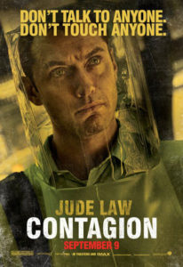 "A movie poster from ""Contagion"" in 2011."