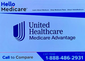 A screenshot from a television ad on Friday for a Medicare Advantage plan from UnitedHealthcare.