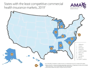 """Competition in Health Insurance: A Comprehensive Study of U.S. Markets"", American Medical Association, 2020"