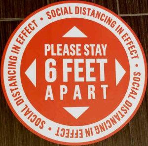 Hotel floor sticker