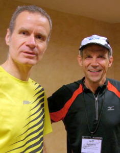 Jeff Porter (left) with 1972 Olympic runner Jeff Galloway during the Health Journalism 2012 conference in Atlanta.