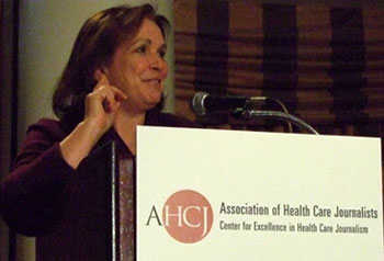 Elizabeth Edwards spoke about health care reform at Health Journalism 2008.