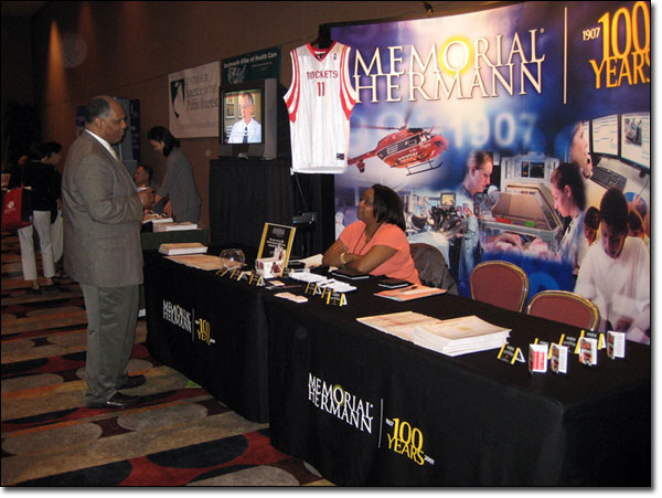 Exhibitors at AHCJ's annual conference.
