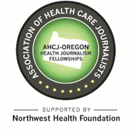 AHCJ-Oregon Health Journalism Fellowship logo