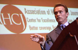 Cailf. Gov. Arnold Schwarzenegger at Health Journalism 2007