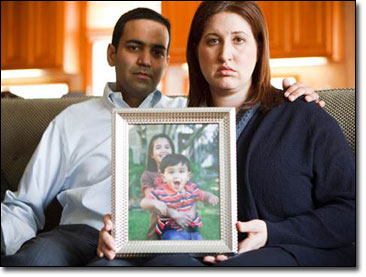 Shanoop and Sandra Kothari of Houston, claim the wipes led to the death of their son, Harrison Kothari, 2.