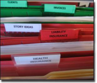 Liability insurance folder
