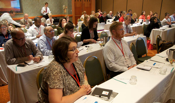 Reporters and editors gather in Omaha, Neb., for the 2012 Rural Health Journalism Workshop. (Photo: Jeff Porter / AHCJ)